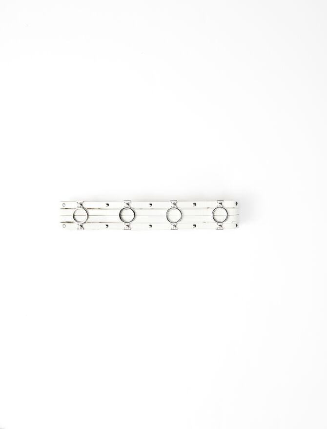 Cintura in pelle dettagli metallizzati -  - MAJE