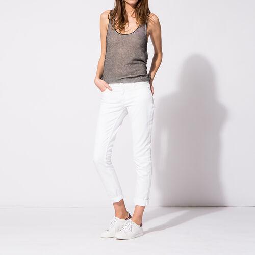 Jeans slim in cotone stretch : Pantaloni & jeans colore Bianco