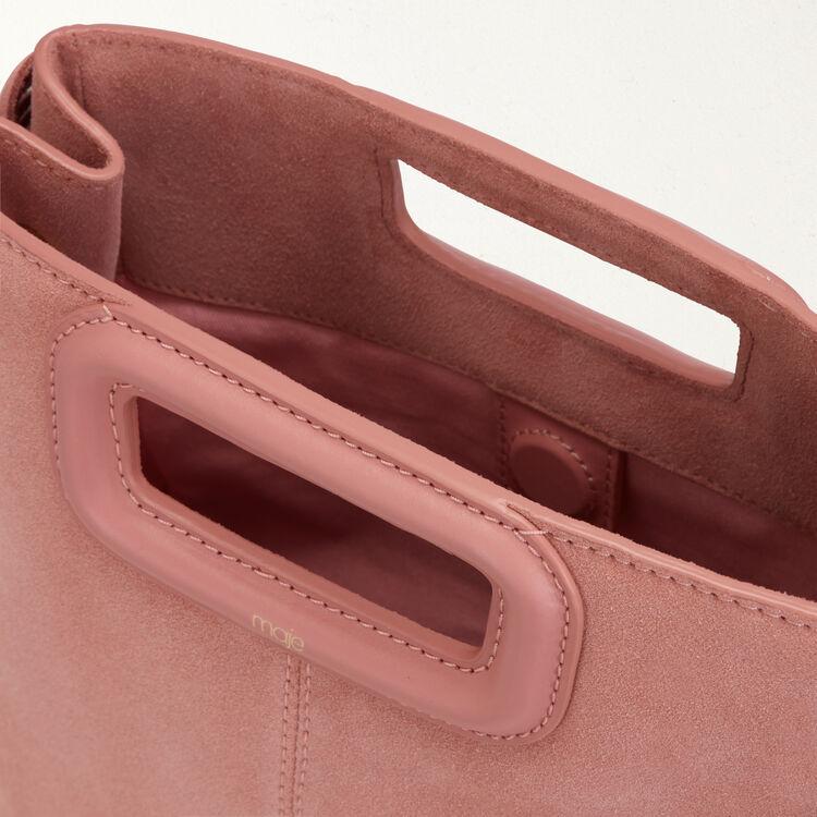 Borsa a M con frange in pelle : Borse M colore Rosa