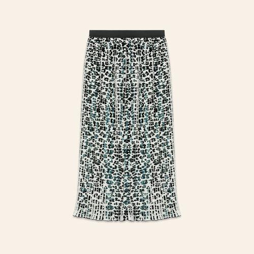 Gonna plissettata con stampa leopardata - Gonne e shorts - MAJE