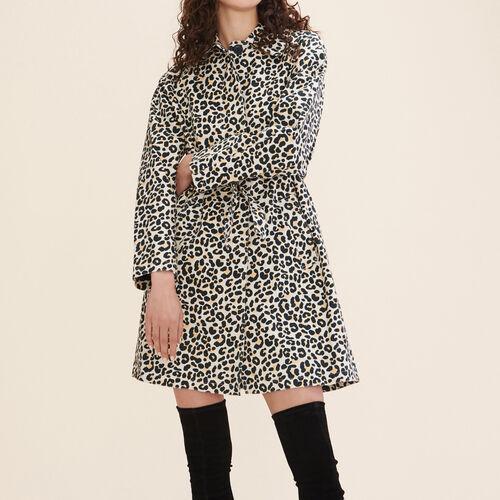 Cappotto stampa leopardo : Cappotti colore IMPRIME