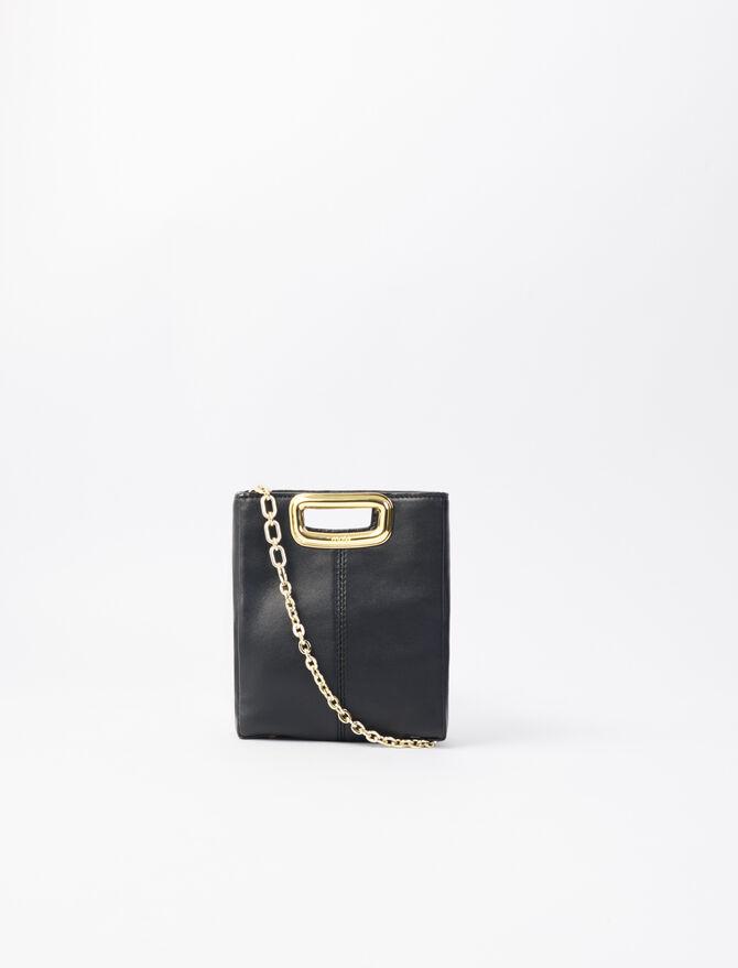 Mini leather and goldtone M Skin bag -  - MAJE