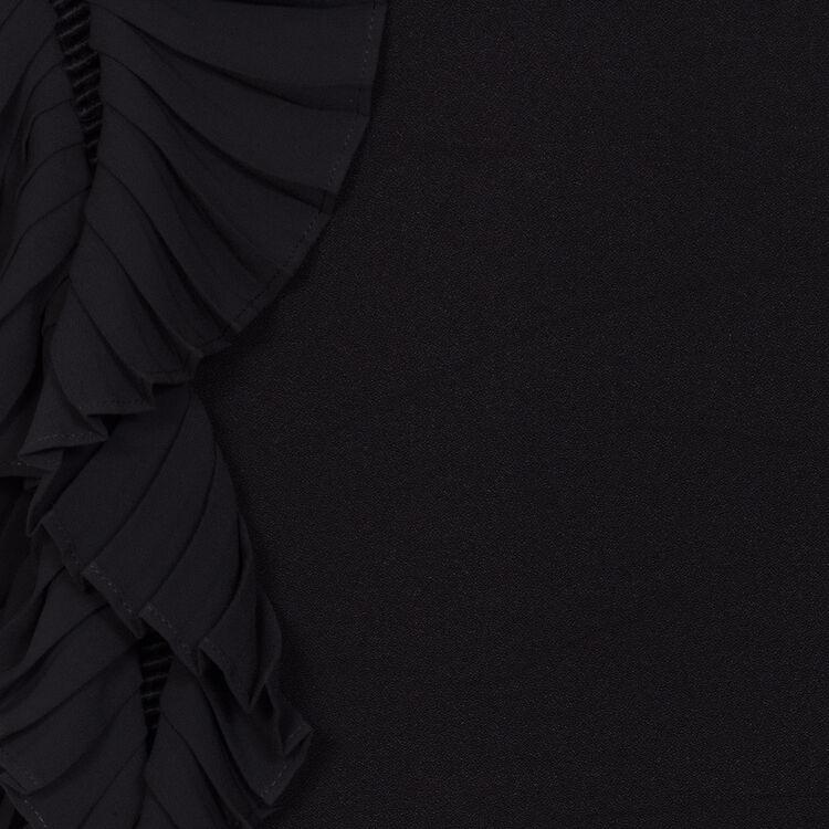 Vestito dritto con maniche plissettate : Majexclusive colore Nero