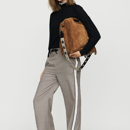 Pantalone elasticizzato a quadri : Office girl colore CARREAUX