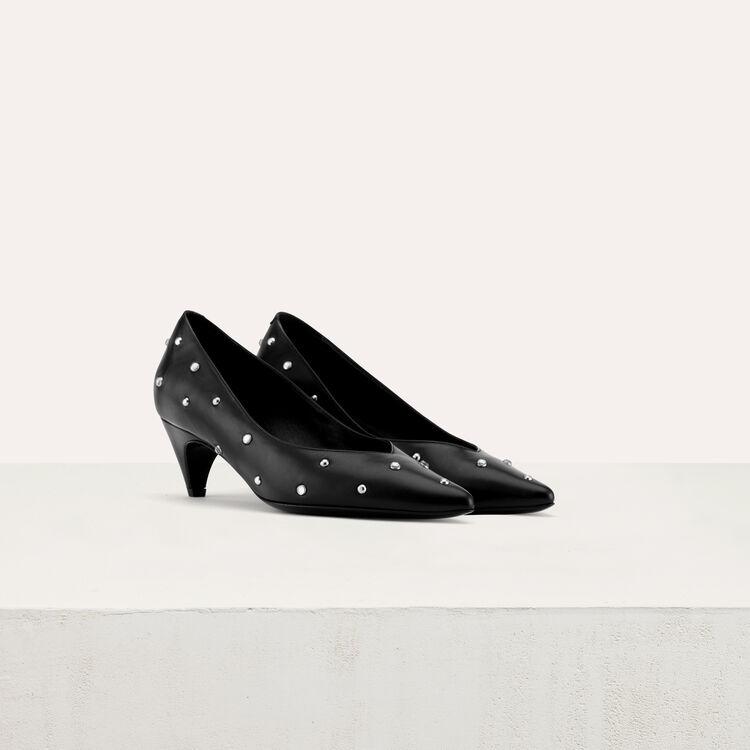 Décolleté con strass e tacco basso : Scarpe colore Nero