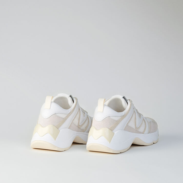 Sneakers W22 multimateriali : Sneakers colore Avorio
