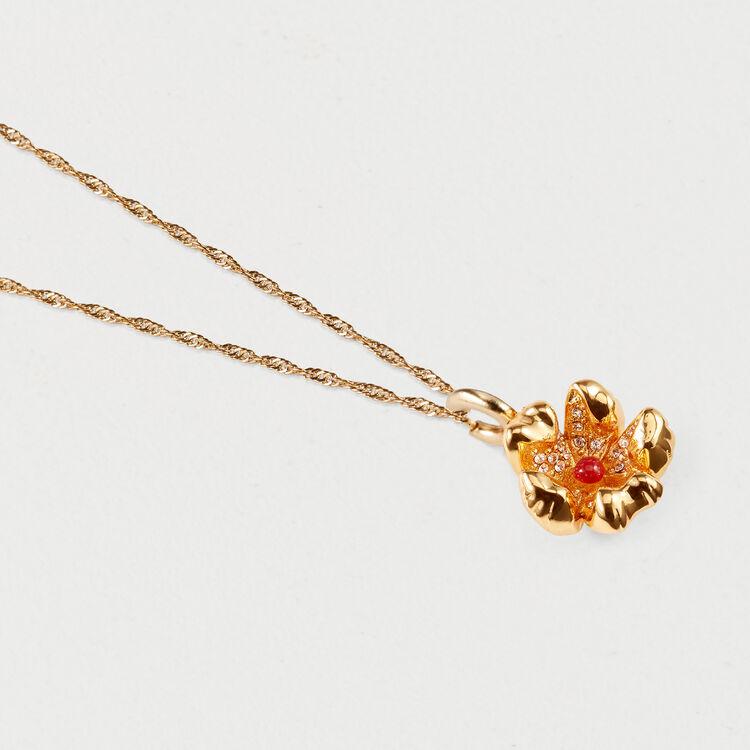 Collana fiore rosso : Gioelli colore OR
