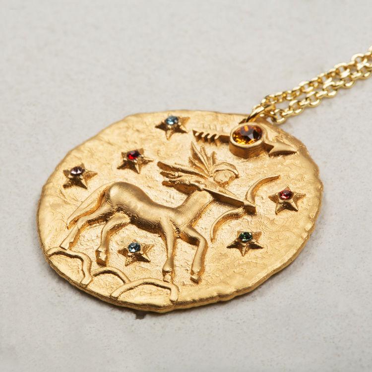 Collana segno zodiacale Sagittario : Gioelli colore OR