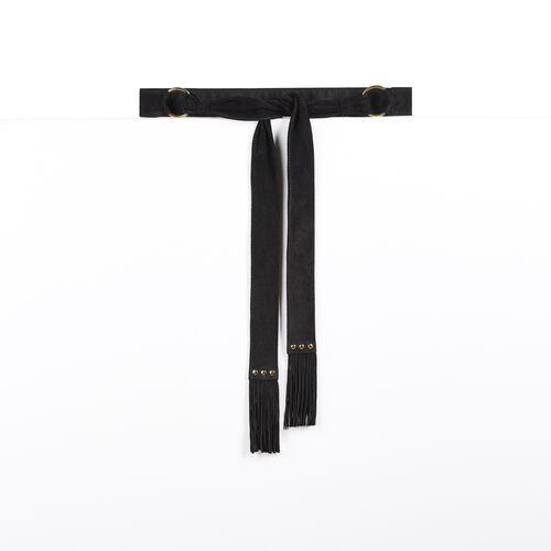 Cintura da annodare in capretto : Accessori colore Nero