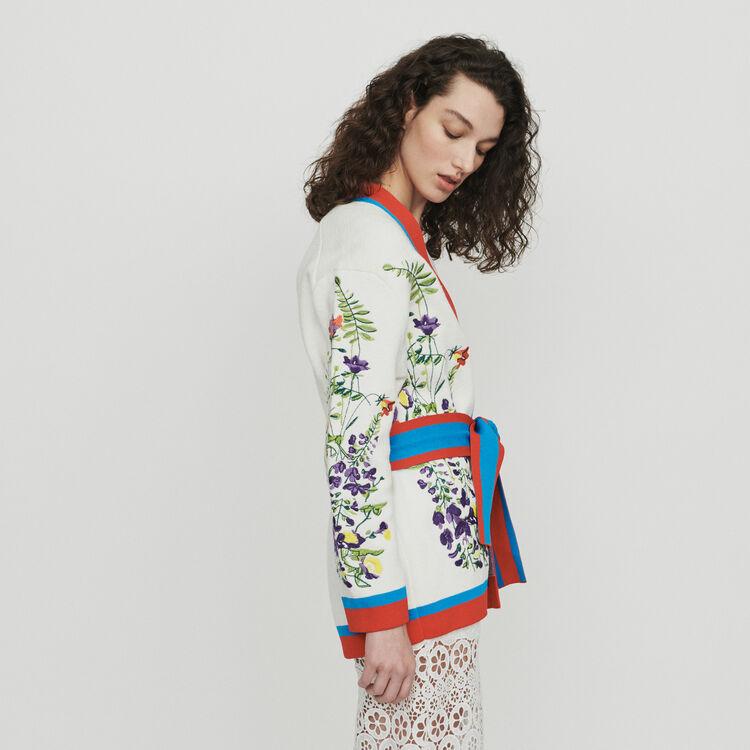 Cardigan con ricamo floreale : Pullover e cardigan colore Multicolore