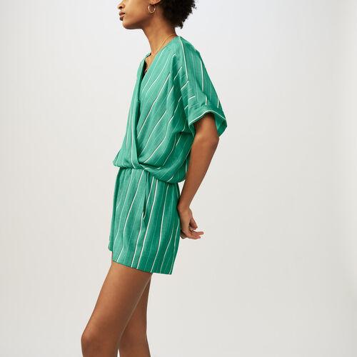Tuta corta a righe : Gonne e shorts colore A Righe