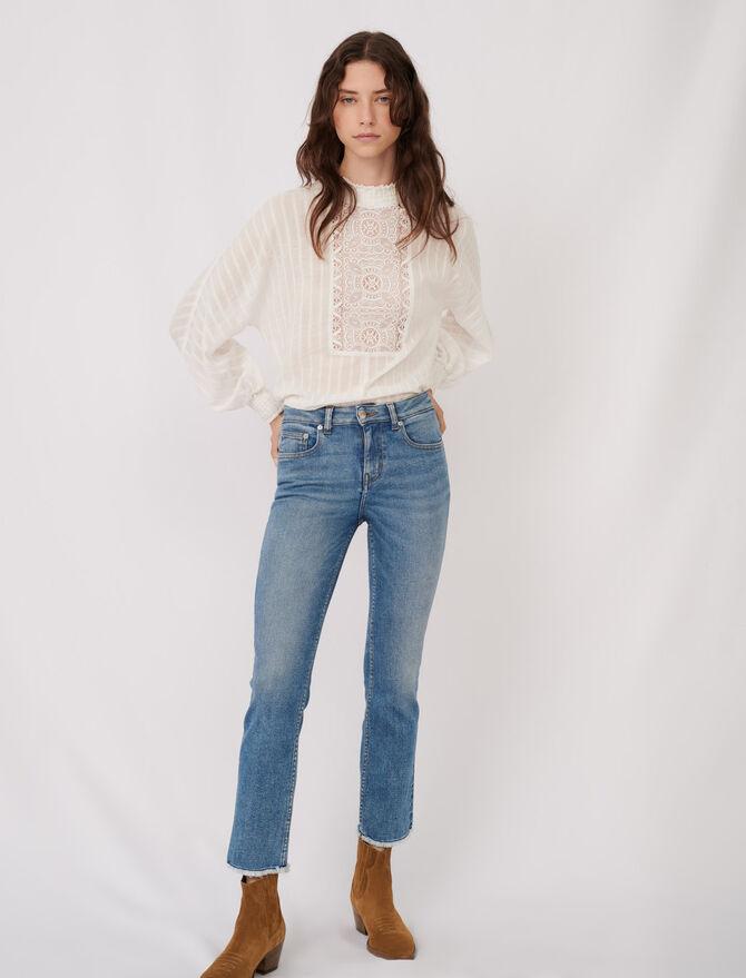 Jeans dritti sfrangiati - eco-sostenibile - MAJE