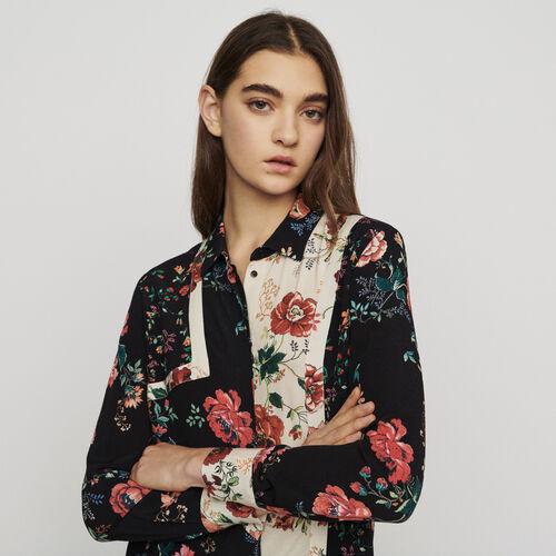 Camicia stampata stile patchwork : Tops e Camicie colore IMPRIME