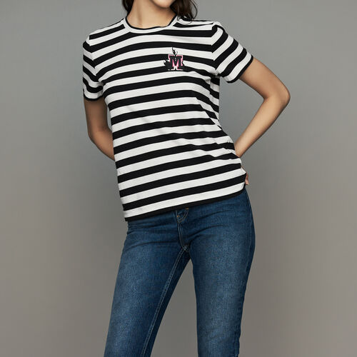 Tee-shirt in cotone a righe : T-Shirts colore A Righe