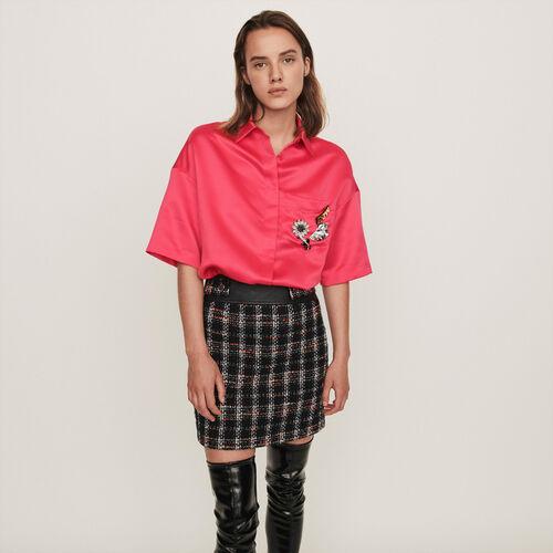 Camicia in satin : Collezione Inverno colore Rosa