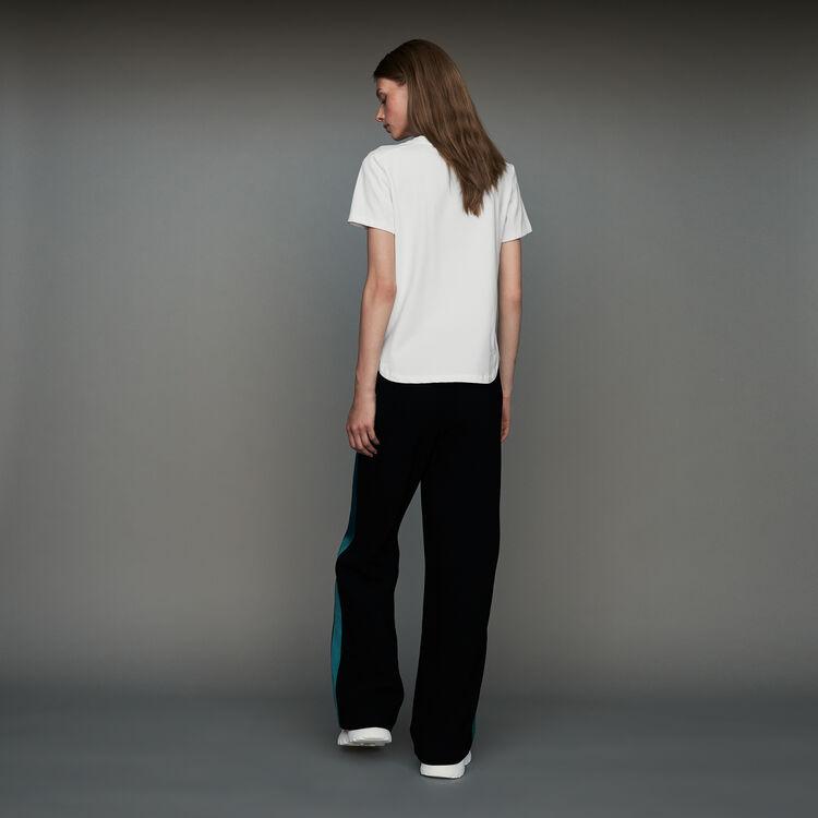 Parmane Pantalone Largo Bicolore Pants Jeans Majecom