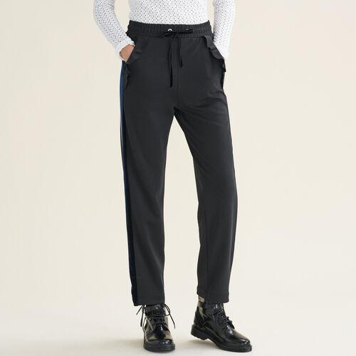 Pantaloni dritti stile tuta : Pantaloni e jeans colore Nero