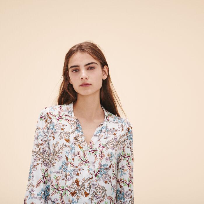 Blusa con stampa a fiori - Tops - MAJE