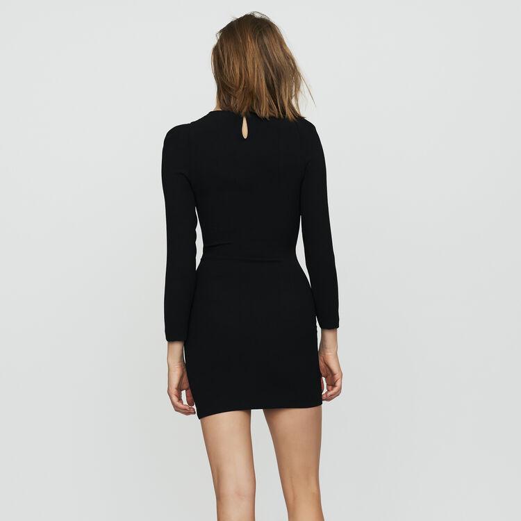 Vestito con maniche lunghe con gioiello : Vestiti colore Nero