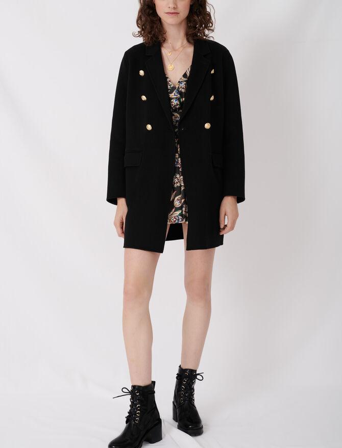 Cappotto con cintura in lana riciclata - Giacche - MAJE