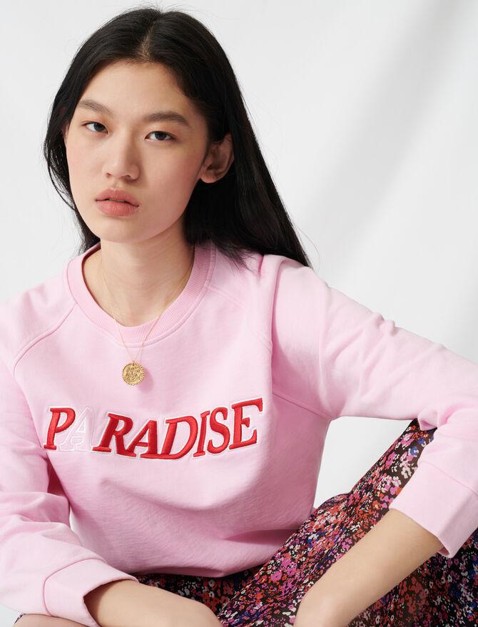 Felpa soffice ricamata Paradise - Pullover e cardigan - MAJE
