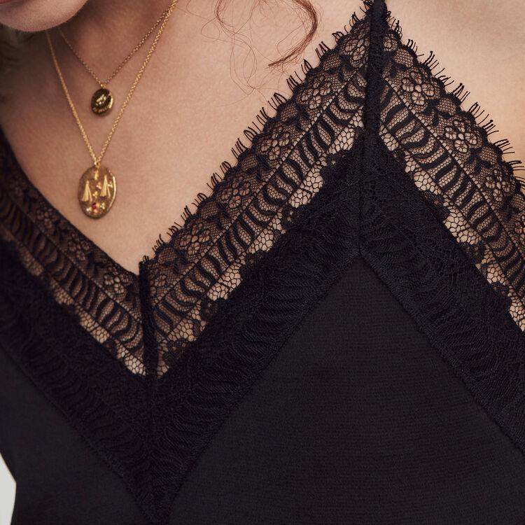 Tuta pantalone in satin : Collezione Inverno colore Nero