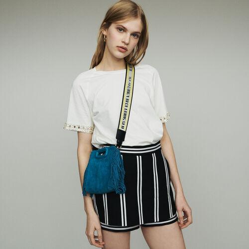 Short trompe-l'œil a righe : Gonne e shorts colore A Righe