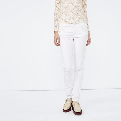 Pantaloni dritti in velluto a coste : Pantaloni & jeans colore Bianco