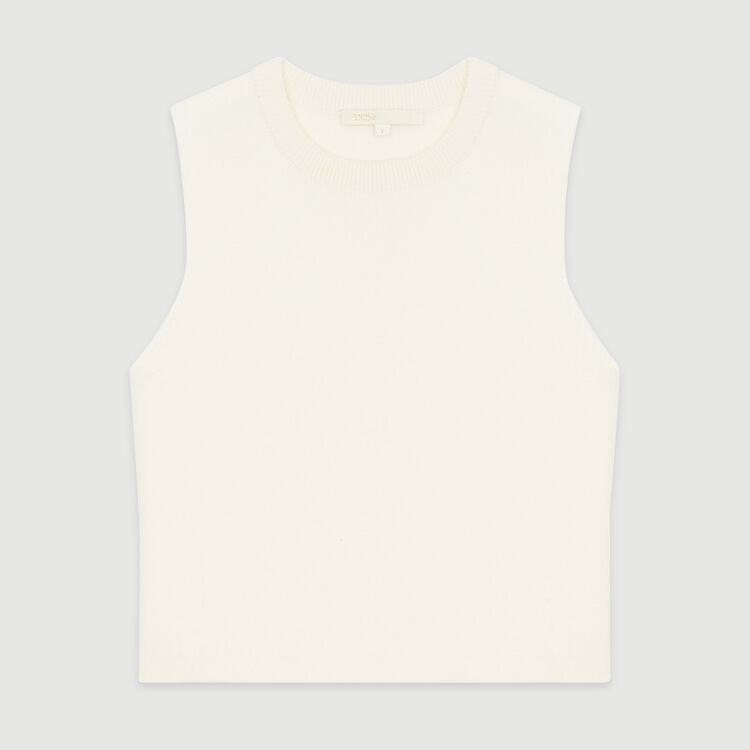 Pull senza maniche in misto cotone : Pullover e cardigan colore ECRU