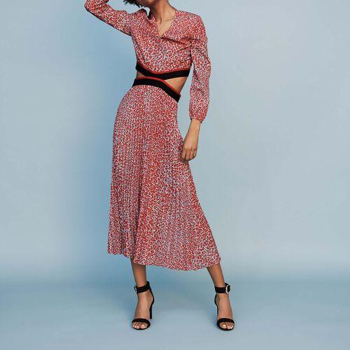 Vestito lungo plissettato stampato : Vestiti colore IMPRIME