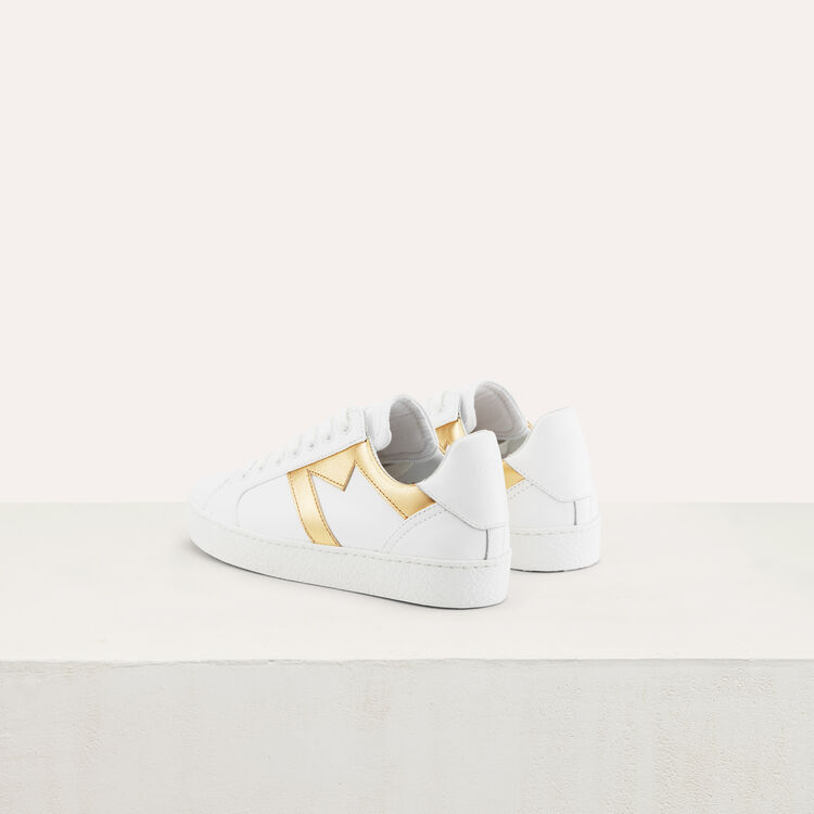 Sneakers with a M insert : Scarpe colore Oro