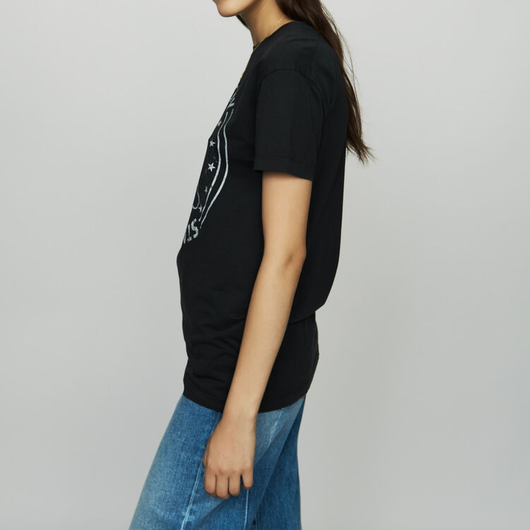 Tee-shirt stampata in cotone : T-Shirts colore Bianco