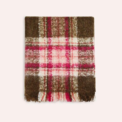Sciarpa spessa a quadri : Sciarpe e Foulard colore Ecru