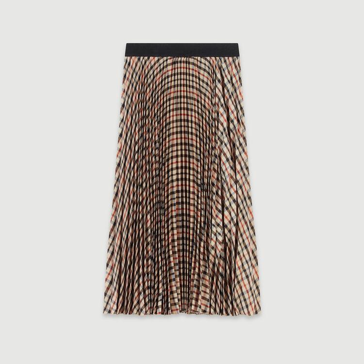Gonna plissettata e elasticizzata : Gonne e shorts colore Marrone