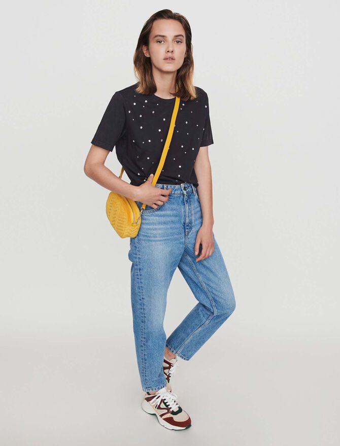 Tee-shirt con strass - Midseason-Sales_UK_30% - MAJE