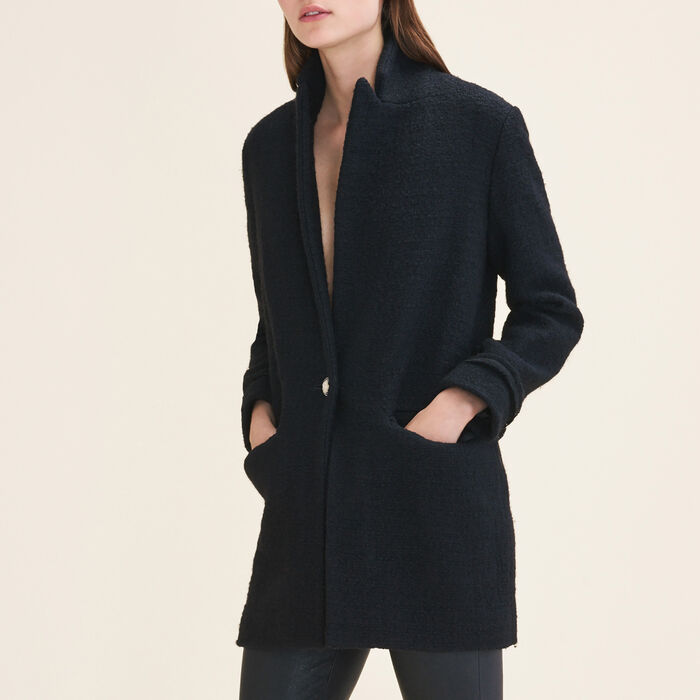 Giacca longuette in tweed - Giacche - MAJE
