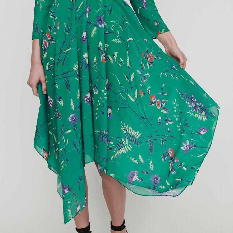 Vestito lungo con stampa floreale : Vestiti colore IMPRIME