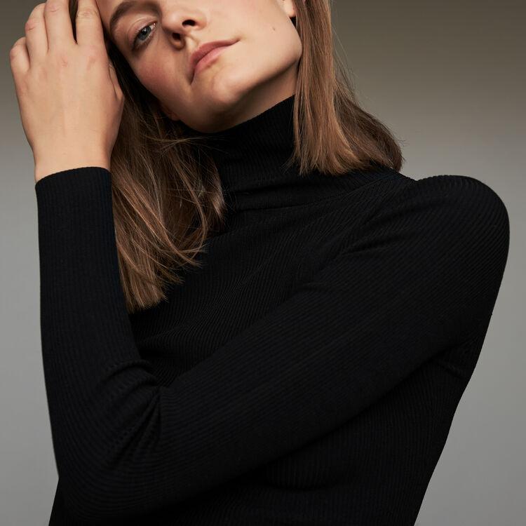 Dolcevita a collo alto : Maglieria colore Nero