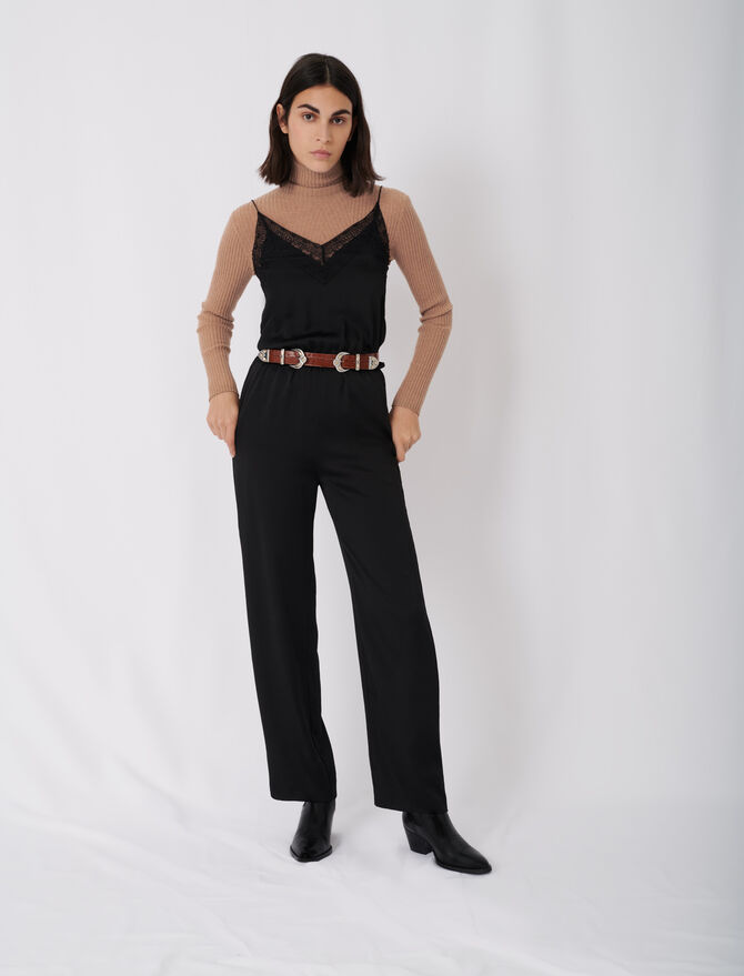 Tuta pantalone in satin - Jumpsuits - MAJE