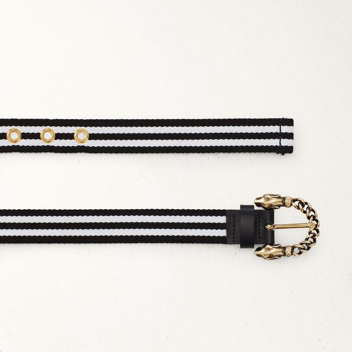 Cintura con fibbia pantera : Cinture colore Bicolore