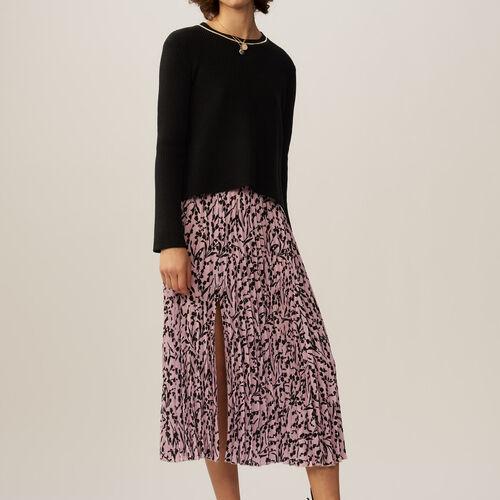 Maglia fine in coton misto a filati : Pullover e cardigan colore Nero