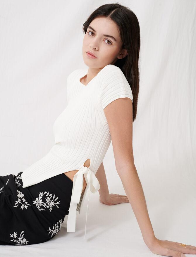 Maglione leggero écru traforato - Pullover e cardigan - MAJE