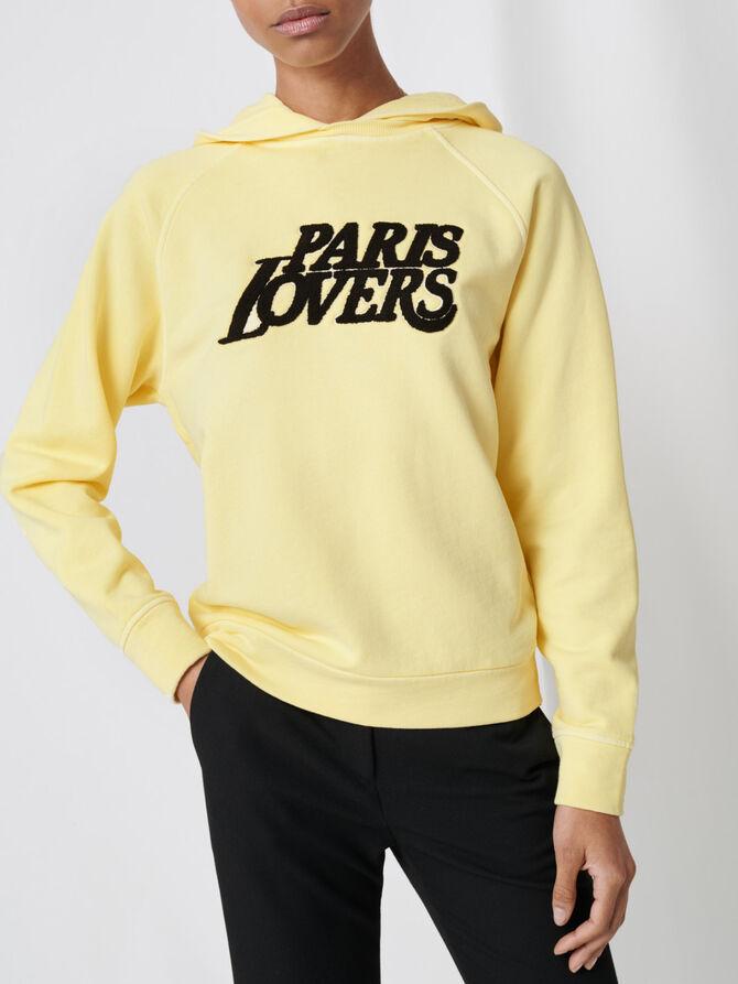 Felpa gialla ricamata - Pullover e cardigan - MAJE
