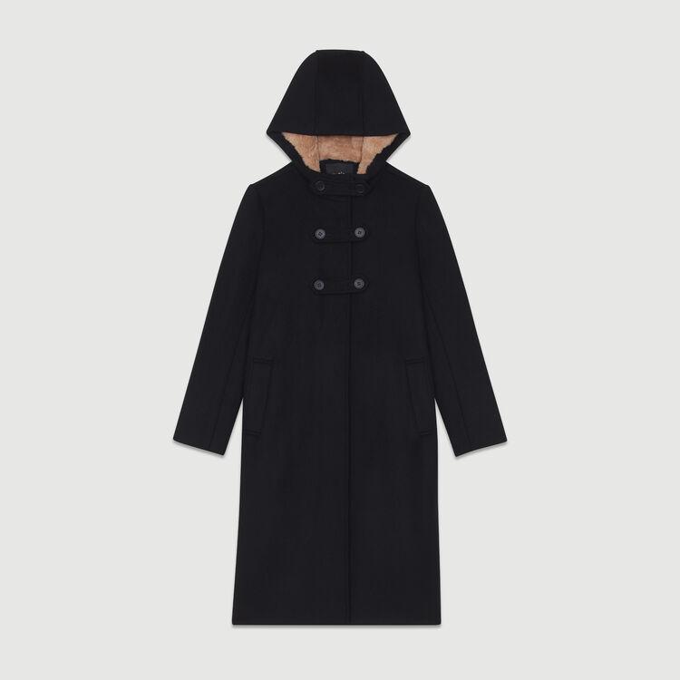 Cappotto lungo foderato : Cappotti colore Nero