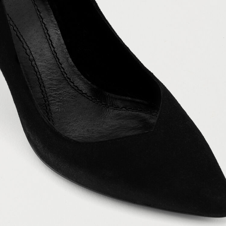 High heals suede shoes : Scarpe colore Nero