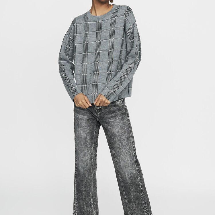 Pull oversize in maglia jacquard : Maglieria colore CARREAUX
