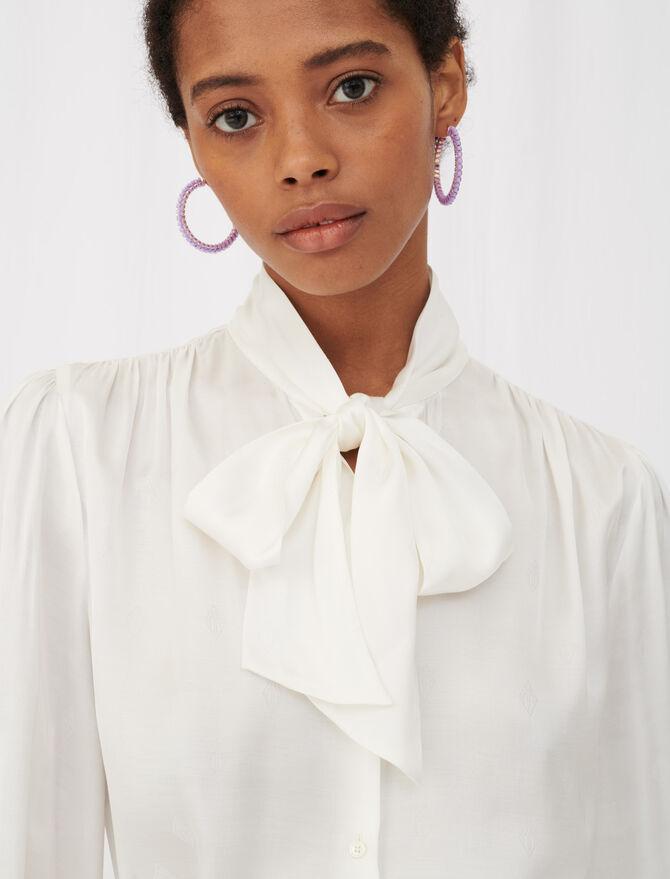 Camicia in raso con monogramma Maje - Tops e Camicie - MAJE