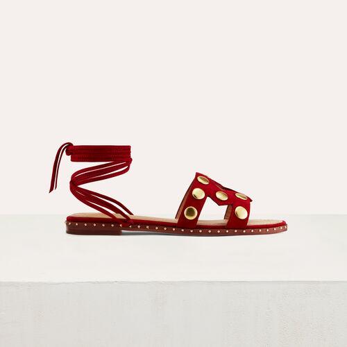 Flat sandals with studs : Scarpe colore Nero