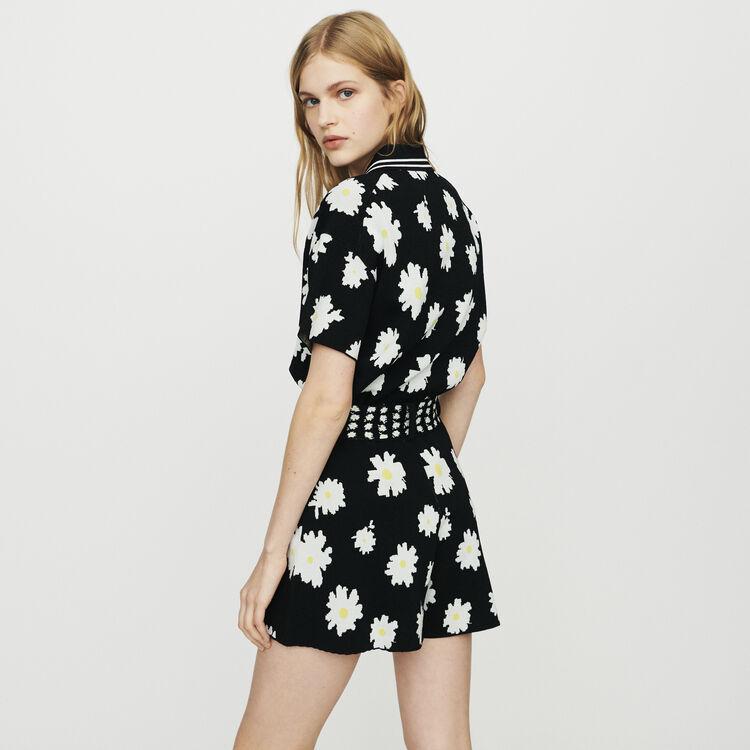 Short in jacquard margherite : Gonne e shorts colore Jacquard