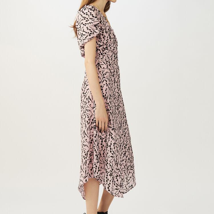 Vestito lungo in seta stampato : Vestiti colore IMPRIME